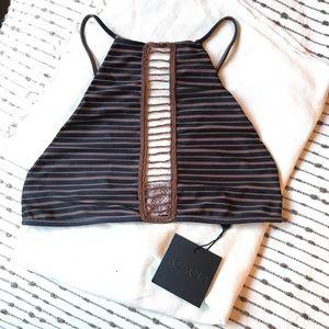 Acacia Swimwear Malibu Top in Dark Classic